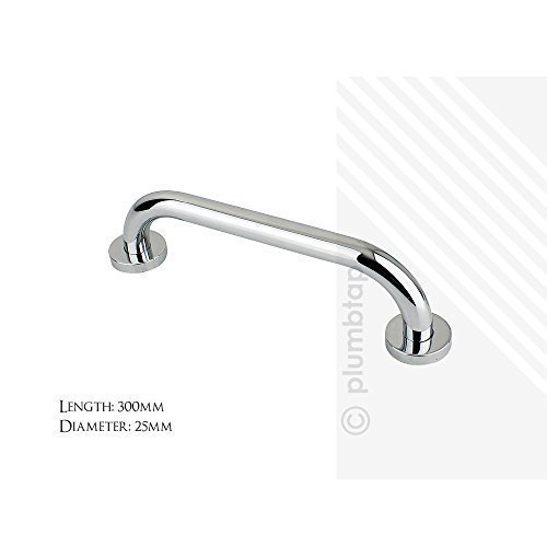 "Shower Grab Bars Uk straight grab bar rail in stainless steel | 12"" 300m chrome plated"