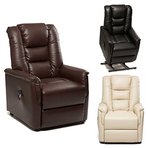 The Bradfield Riser Recliner Chair In Faux Leather PU Single - Rise recline chairs