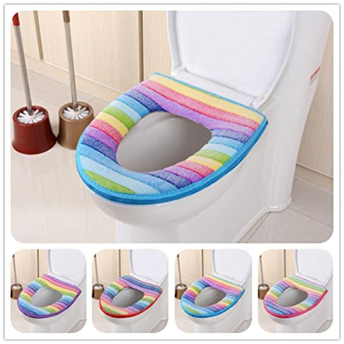 toilet seat covers uk. Toilet Seat Cover  Clode 1PC Stripe Bathroom Rainbow Color